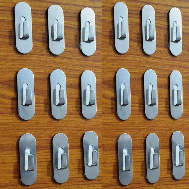 YTM 18 pcs wall clips hook adhesive  (pack of 18) Door Hanger