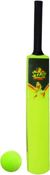 Planet of Toys T20 Special Rubber Ball with Size 3 A Grade Pvc Plastic Bat Cricket Kit