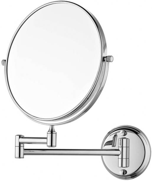 PESCA Shaving Makeup 5X Magnifying Mirror with Wall Bracket and Flexible Rod, 8 inch Multi-Purpose Dressing room / Bathroom Mirror