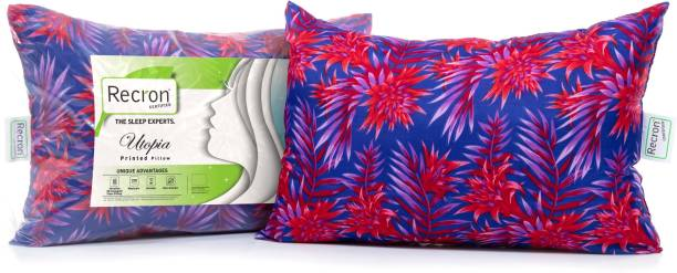 RECRON CERTIFIED Utopia Microfibre Floral Sleeping Pillow Pack of 2