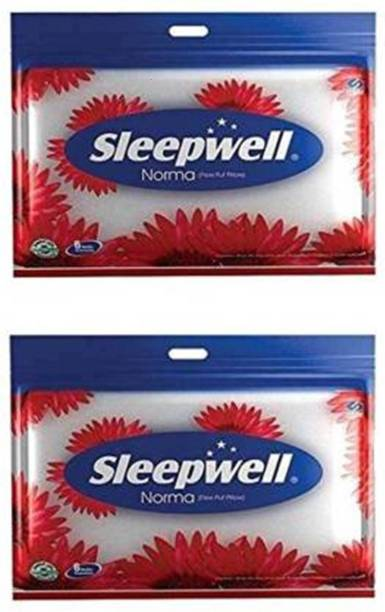 Sleepwell Cotton Solid Sleeping Pillow Pack of 2
