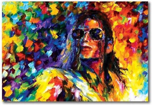 michael Jackson art poster / colorful poster ( 19 inchx13 inch) Paper Print