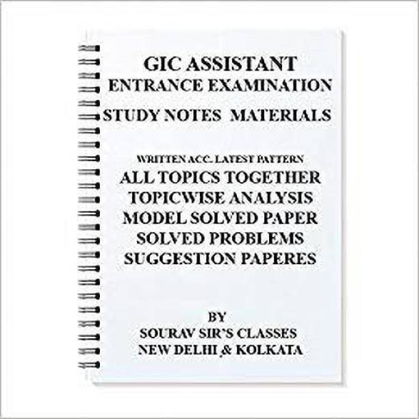 Gic Assistant Manager Exam Study Material For 2018-2019 Entrance Complete With Model Sample Papers
