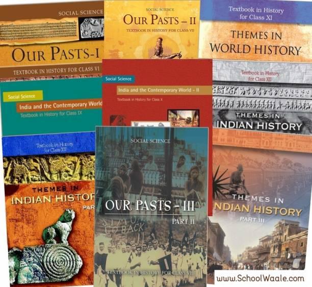 NCERT History Books Set Class 6 To 12 (English Medium - Binded Books)