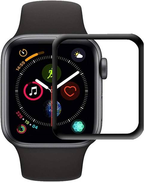 ACUTAS Tempered Glass Guard for Apple iWatch 40mm (Black)