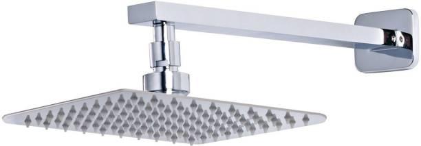 LOGGER - Ultra Slim Square Shower Head (4 Inches) with Square Shower Arm Shower Head