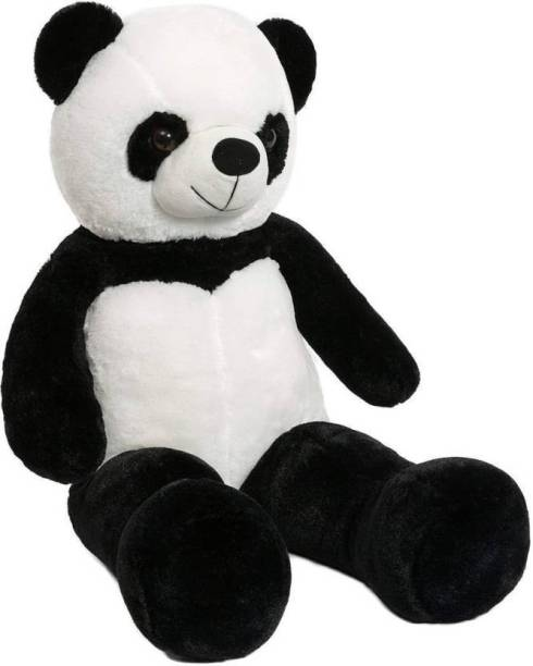 FamilyStore 3 Feet Stuffed Spongy Hugable Cute Panda Teddy Bear - 91 cm (Black) - 91 cm (Black)  - 91 cm