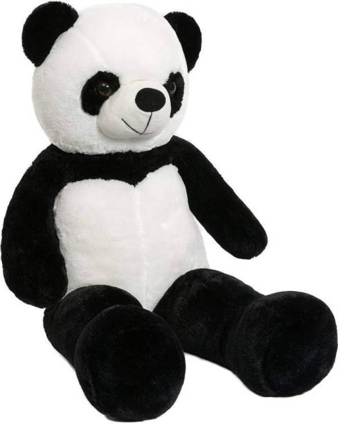 FamilyStore 4 Feet Soft Panda Very Beautiful Best Quality For Valentine & Birthday Party Gift - 122 cm (Black) - 122 cm (Black)  - 122 cm
