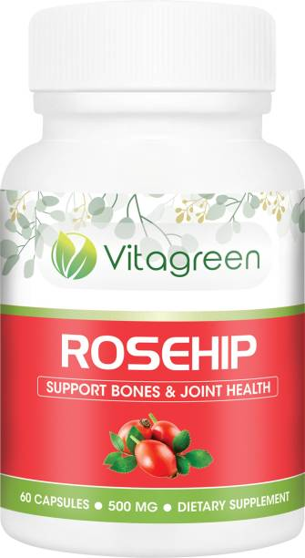 VitaGreen ROSEHIP Capsules For Support Bones & Joint Health, Pure Natural & Ayurvedic