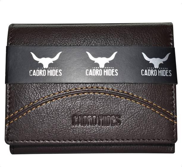 cadrohides Men Brown Genuine Leather Wallet