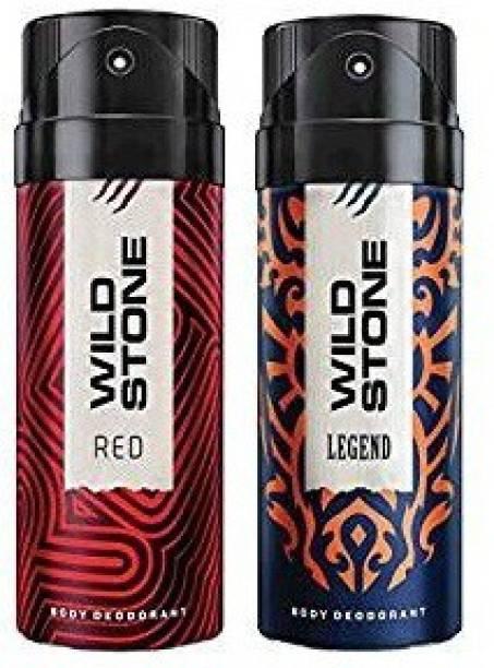 Wild Stone Red And Legend Deodorant For Men (150 ML) Body Spray  -  For Men
