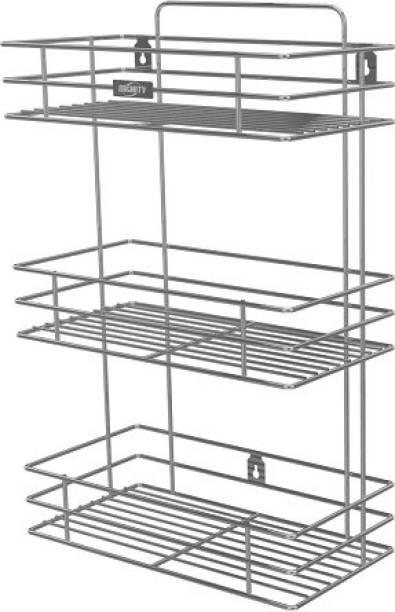Dignity Stainless Steel Multipurpose 3 Tier Kitchen Rack/Storage Shel Utensil Kitchen Rack