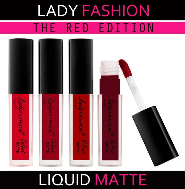 Lady FASHION The Red Edition Matte Liquid Lipstick
