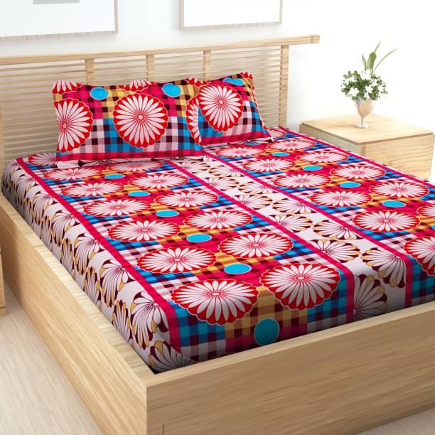 Story@home 144 TC Cotton Double Abstract Bedsheet