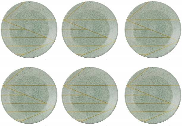 STEHLEN 100% Pure Melamine, Dinner Plate Set, Set of 6 (Diameter: 12 Inch) - Green Dinner Plate