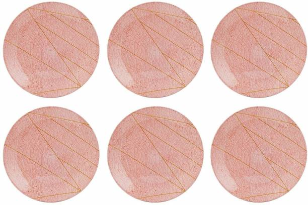 STEHLEN 100% Pure Melamine, Dinner Plate Set, Set of 6 (Diameter: 12 Inch) - Pink Dinner Plate