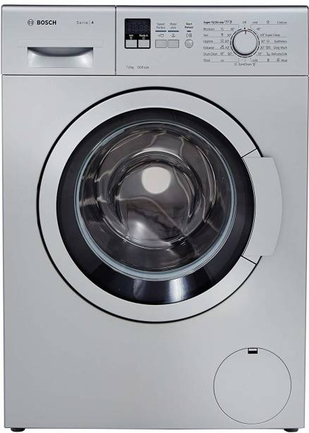 BOSCH 7 kg Fully Automatic Front Load Silver