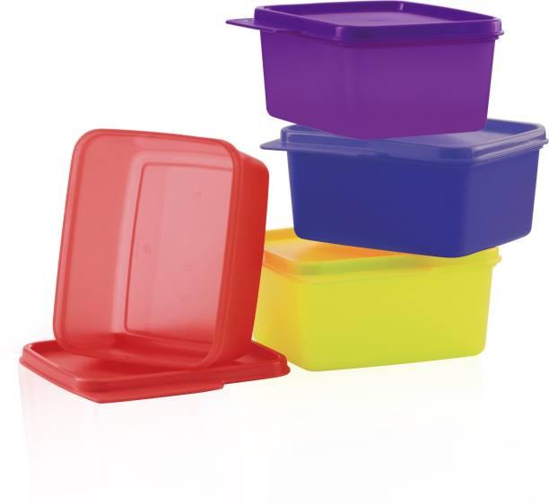 TUPPERWARE Square Refrigerator Container Keep Tab 4pc  - 500 ml Plastic Fridge Container