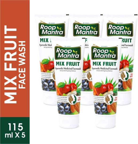 Roop Mantra Mix Fruit  115ml, Pack of 5 Face Wash