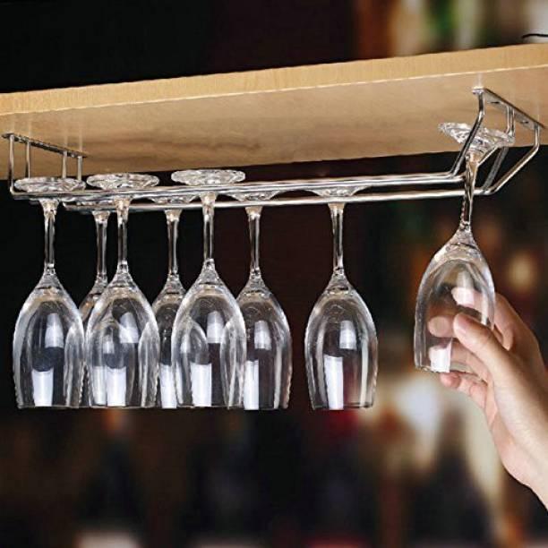 imPULSE Double Glass Holder - Regular Stainless Steel Wine Rack
