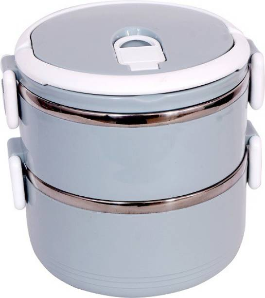 AKR Stainless Steel 2 Layer Leak Proof Lunch Box Containers Lunch Box 2 Containers Lunch Box