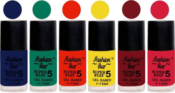 Fashion Bar Velvet Matte Gel Nail Polish Blue,Green,Orange,Yellow,Maroonish Red,Pink Blue,Green,Orange,Yellow,Maroonish Red,Pink