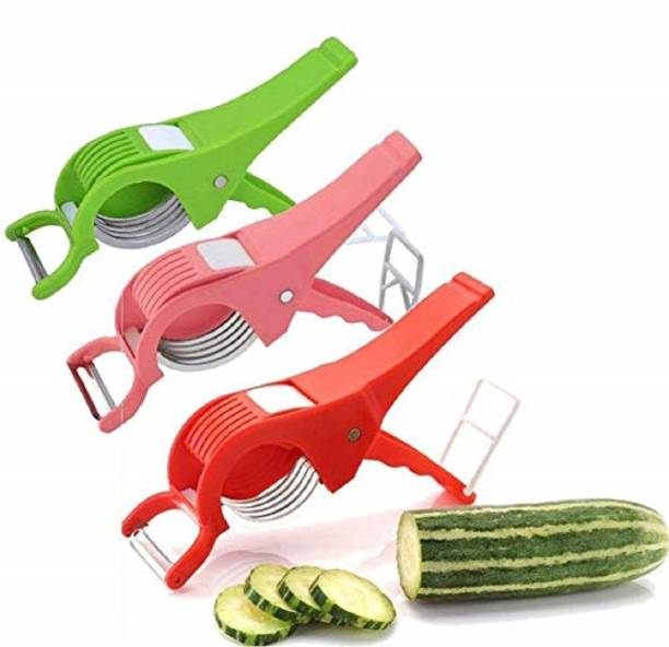 zamzug 2 in 1 Vegetable Cutter with Peeler and Chopper Set-3 Y Shaped Peeler
