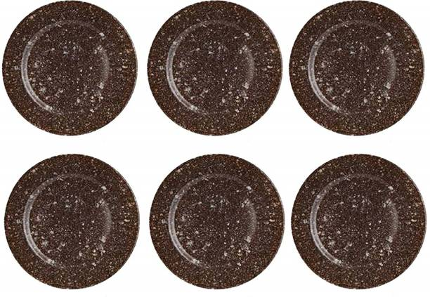 STEHLEN ranite Design, 100% Pure Melamine, Dinner Plate Brown Dinner Plate