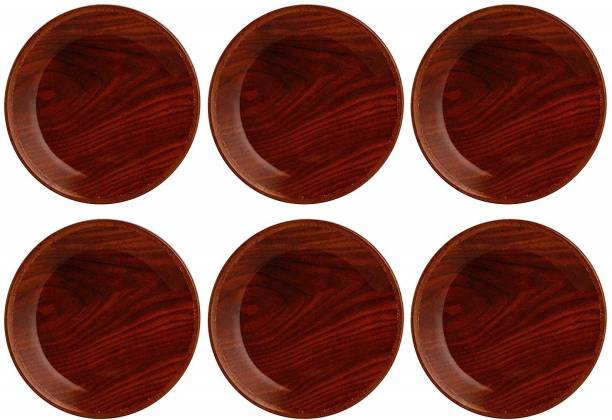STEHLEN Wooden Design, 100% Pure Melamine, Dinner Plate Dinner Plate