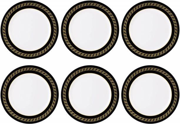 STEHLEN Vintage Design, 100% Pure Melamine, Dinner Plate Black Dinner Plate