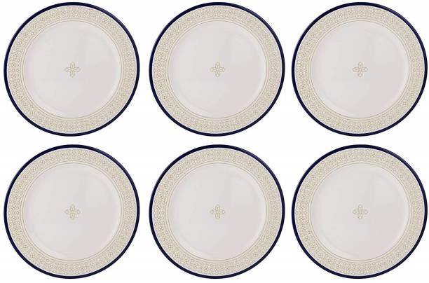 STEHLEN Cubic Design, 100% Pure Melamine, Dinner Plate Gold Dinner Plate