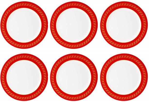 STEHLEN Vintage Design, 100% Pure Melamine, Dinner Plate Red Dinner Plate