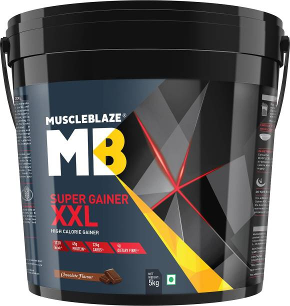 MUSCLEBLAZE Super Gainer xxl (Chocolate, 5 Kg/ 11 lb) Weight Gainers/Mass Gainers