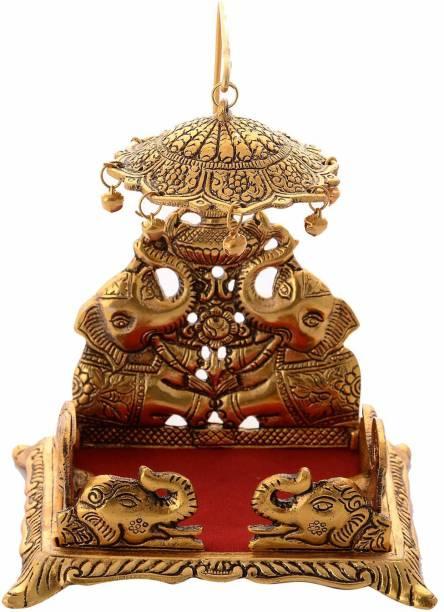 Chhariya Crafts Metal Krishna Sihasan, Laddu Gopal Singhasan For Home And Office Metal Home Temple