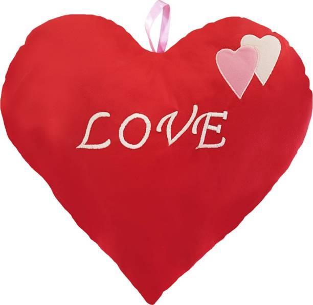 Miss & Chief Valentine Heart Shape Love Red Cushion Premium Soft Toy  - 12 inch