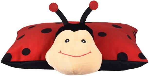 Miss & Chief Folding Pillow Bashful Lady Bug Premium Soft Toy  - 18 inch