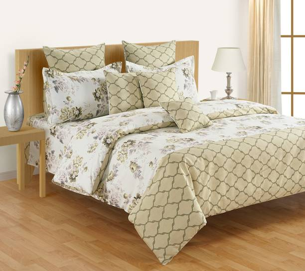 SWAYAM 210 TC Cotton Single Floral Bedsheet
