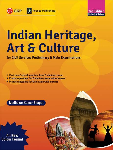 Indian Heritage, Art and Culture (Preliminary & Main) 2ed - Multicolour Book Second Edition