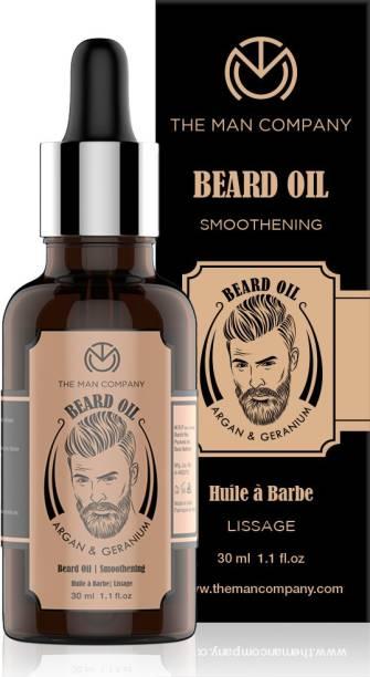 THE MAN COMPANY Beard Oil -Argan & Geranium Hair Oil