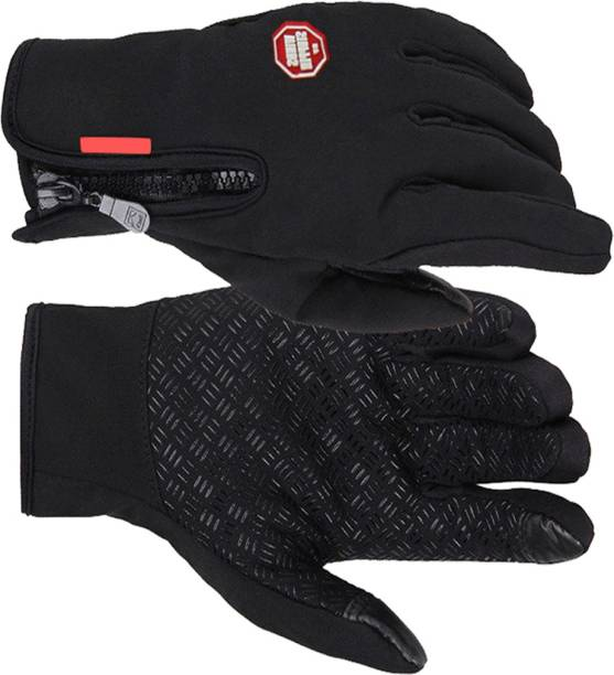 futaba Windproof Outdoor Skiing Touch Screen Motorcycle Racing Gloves- L Ski Gloves