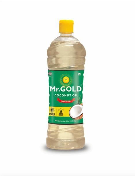 Mr. Gold Mr.Gold Coconut Oil 1 Liter Pet bottle Coconut Oil Plastic Bottle
