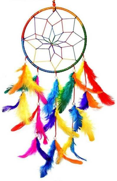 Ryme Single Ring Multi Dream Catcher Wall Hanging For Home / Office Wool Dream Catcher