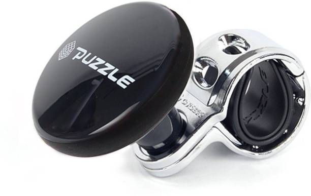 Trac Steering Wheel Spinner Knob | Auxiliary | Booster | Control | Handle | Steering Wheel Strengthener | Auto Spinner Knob | Puzzle Black | for Universal cars Vehicle Steering Wheel For Cars