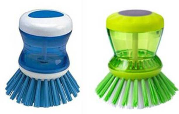 batwada export Cleaning Brush with Soap Dispenser for Kitchen Sink Dish Washer Wet and Dry Duster