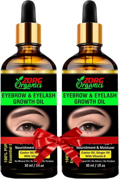 Zorg Organics Eyebrow & Eyelash Growth Oil (Pack of 2) 60 ml
