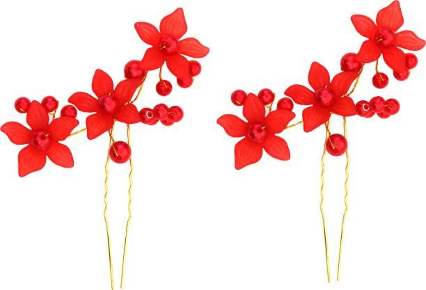 Rapidsflow Bridal flower hair accessories Back Pin