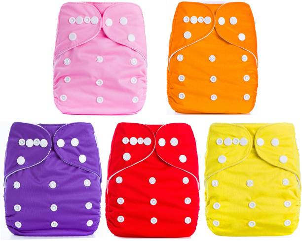 Babymoon Pocket Cloth Diaper Reusable Cloth Diaper, Nappie (Without Insert)