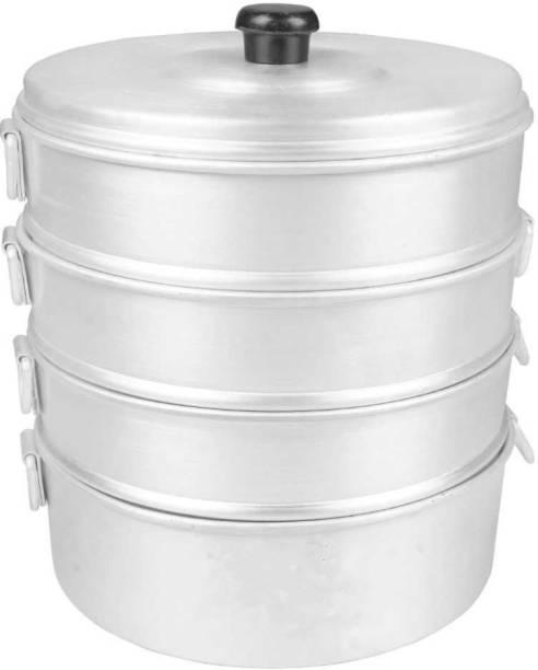 EGLOB Aluminium Momos Steamer 2.5 litre for Home Purpose Aluminium Steamer