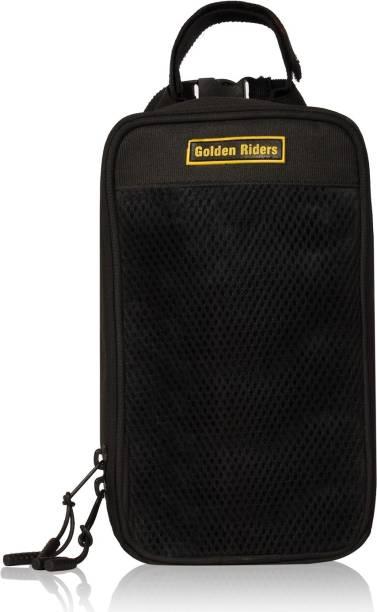 Golden Riders Bicycle Handlebar front frame Tube bag One-side Black Fabric Motorbike Saddlebag