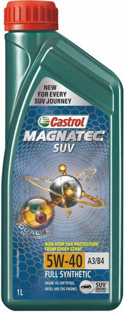 Castrol MAGNATEC SUV 5W-40 Full Synthetic Engine Oil for Petrol, CNG and Diesel SUVs Full-Synthetic Engine Oil